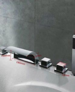 LED Termostatická Batéria BECOLA - Vodopád
