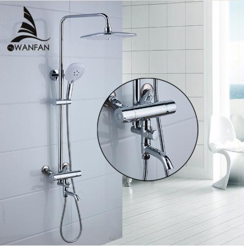 Chrómová sprchová batéria Wanfan