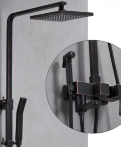 Čierna sprchová batéria Wanfan - 2 verzie