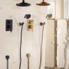 Vintage sprchová batéria Wanfan - Čierna a Zlatá