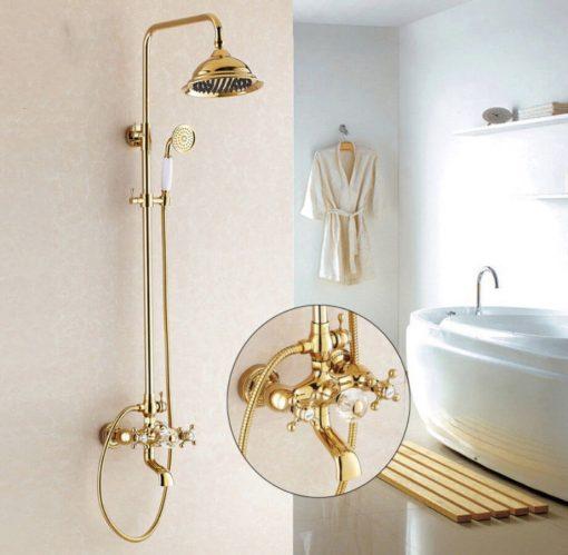Zlatá sprchová batéria Wanfan - 2 typy