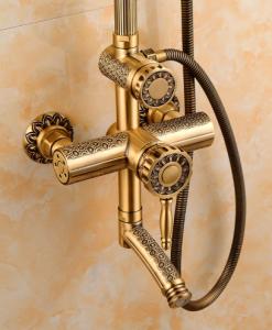 Zlatý sprchový set Wanfan
