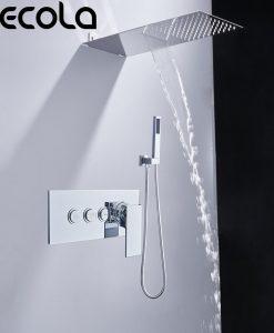 Netradičný chrómový sprchový set BECOLA