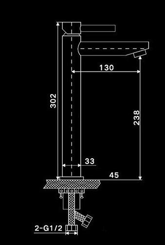 Kúpeľňová umývadlová batéria - Chrome Y10122