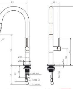 Biela Vodovodná batéria do kuchyne MJ5580