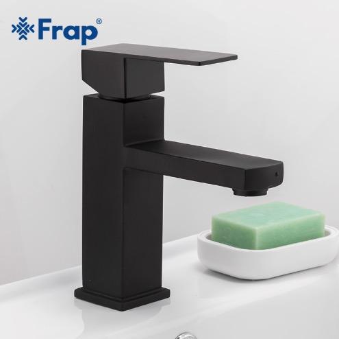 Čierna hranatá batérie do kúpeľne - Frap Y10170