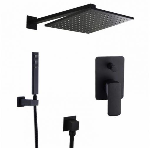 Čierny Podomietkový sprchový set