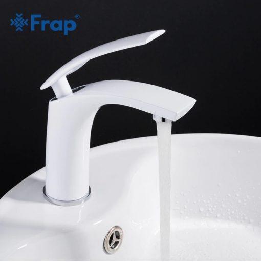 Biela kúpeľňová batéria Frap Y10044