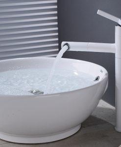 Biela kúpeľňová batéria s odnímateľným ramenom - Frap Y1011