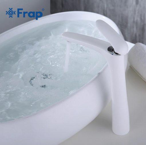 Vysoká kúpeľnová batéria Frap - Biela