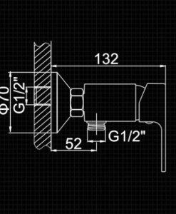 Biela sprchová batéria - Ledeme L203W