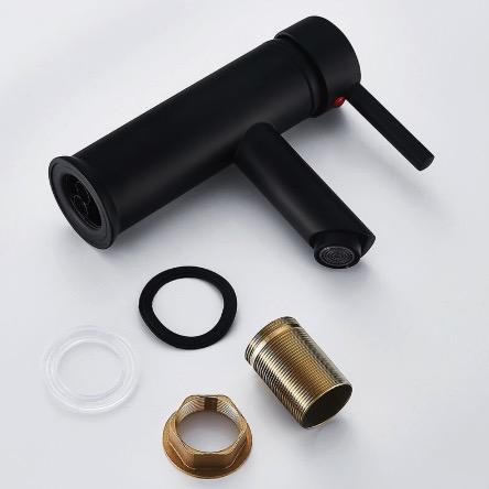 Čierna umývadlová batéria do kúpeľne - HB32