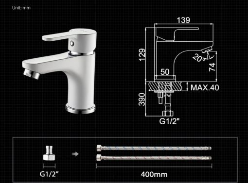 Klasická chrómová kúpeľňová batéria - 2 farby