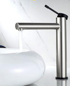 Niklová kúpeľňová batéria - Ledeme L104 Vysoká varianta