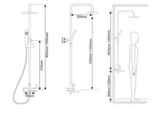 Dizajnový sprchový set Luxury - 2 farby