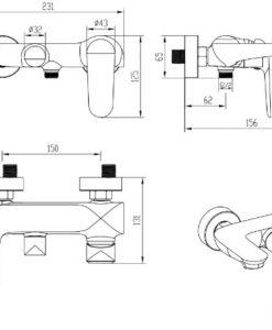Kúpeľňová batéria s nastaviteľným vývodom - SF91