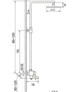 Multifunkčný sprchový set MQF - 4 varianty