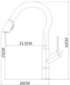 Vyťahovacia kuchynská batéria - X03