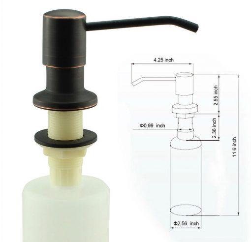 Brúsený dávkovač saponátov - ZF002