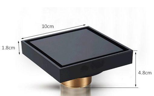 Moderný kúpeľňový odtok - Q32 Black