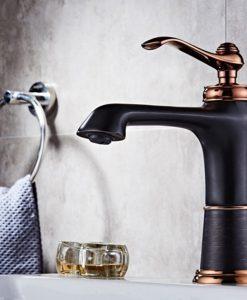 Čierna vodovodná batéria do kúpeľne - SLT014