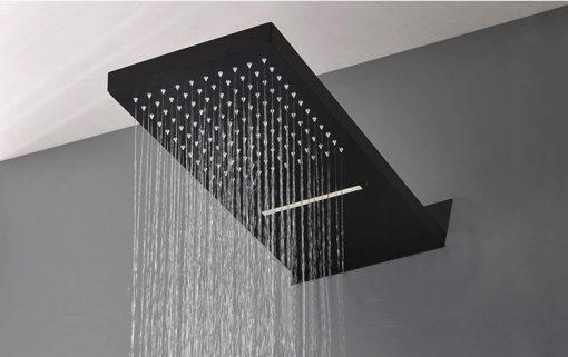 Podomietkový sprchový set Čierny - F32C