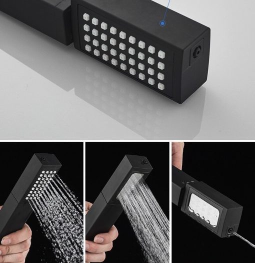 Čierna sprchová batéria - YGLT01