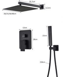 Samostatný sprchový set SLT445 - Čierny
