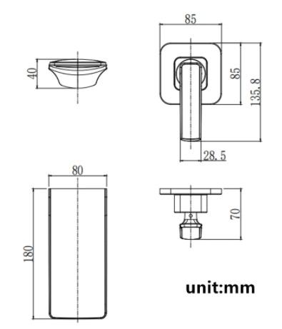 Podomietková vodopádová batéria - 4 Farby
