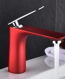 Červená kúpeľňová batéria - YSBF8