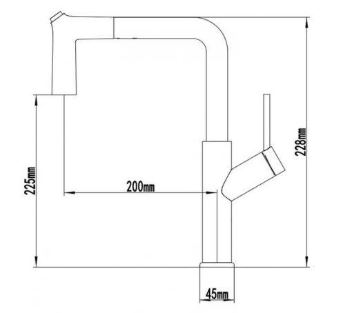 Vyťahovacia drezová batéria YS-201 - 2 farby
