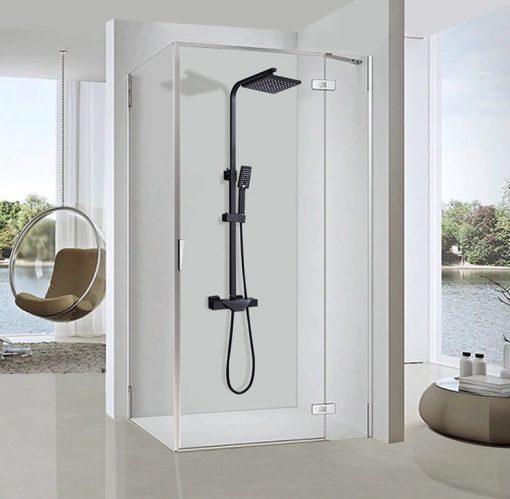 Čierna termostatická sprcha - PT1