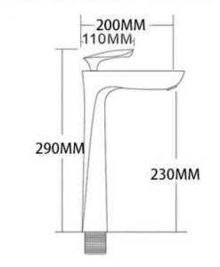 Vysoká samostatne stojaca batéria S55 - 4 varianty